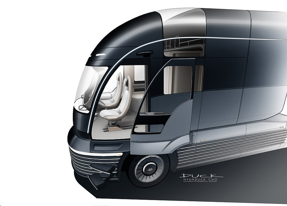 Although it may not be immediately obvious, passengers can actually use a sliding door and retractable steps to enter the vehicle, which are cleverly hidden in the large grill