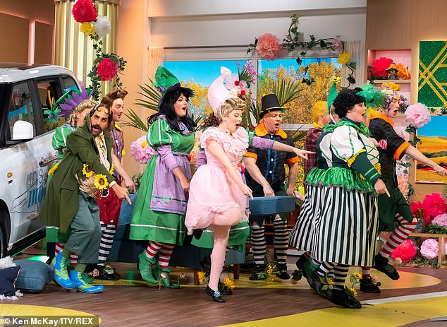 Action packed: It was an all singing all dancing episode of This Morning