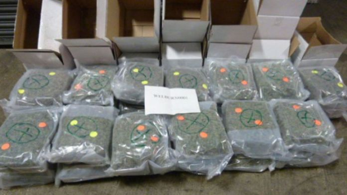 The cannabis was smuggled in two shipments