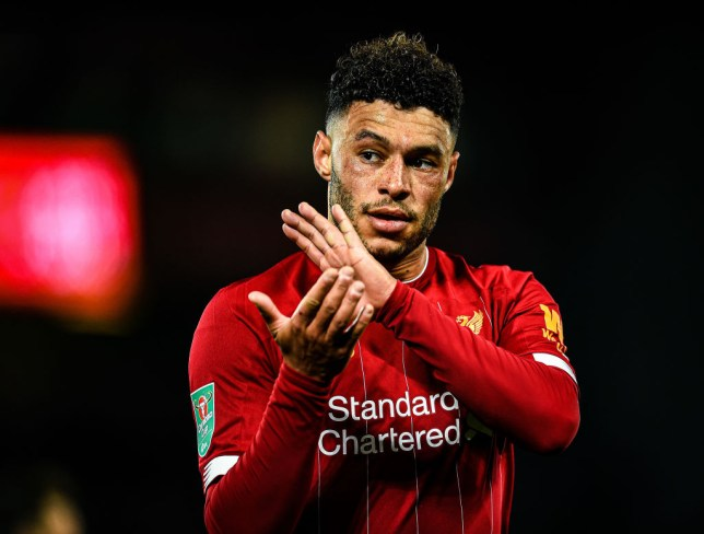 Alex Oxlade-Chamberlain applauds Liverpool's fans during the win against Arsenal
