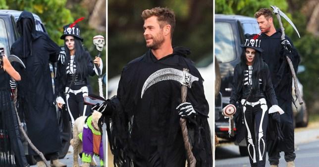 Chris Hemsworth and wife Elsa Pataky on Halloween