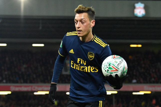 Mesut Ozil impressed for Arsenal in the Carabao Cup defeat to Liverpool