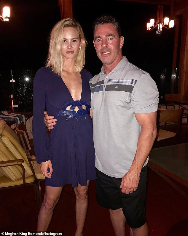 Nasty split: Jim Edmonds insists estranged wife Meghan King 'WILL' have to worry about money after nasty split; the two are seen on their anniversary a year ago