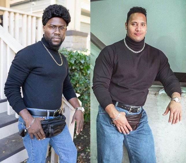 Kevin Hart as Dwayne Johnson for Halloween