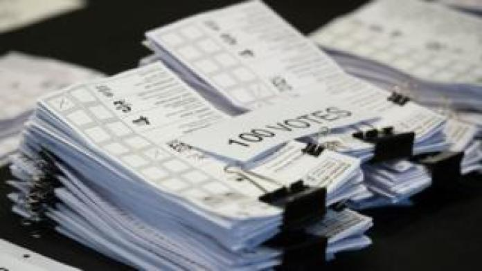 Pile of ballot papers