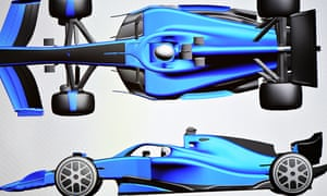 A mockup of one of the heavier cars for the 2021 F1 season released by Liberty Media in the buildup to the US Grand Prix.
