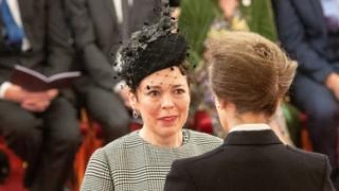 Olivia Colman and Princess Anne