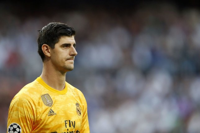Thibaut Courtois was forced off in Real Madrid's draw against Club Brugge due to sickness
