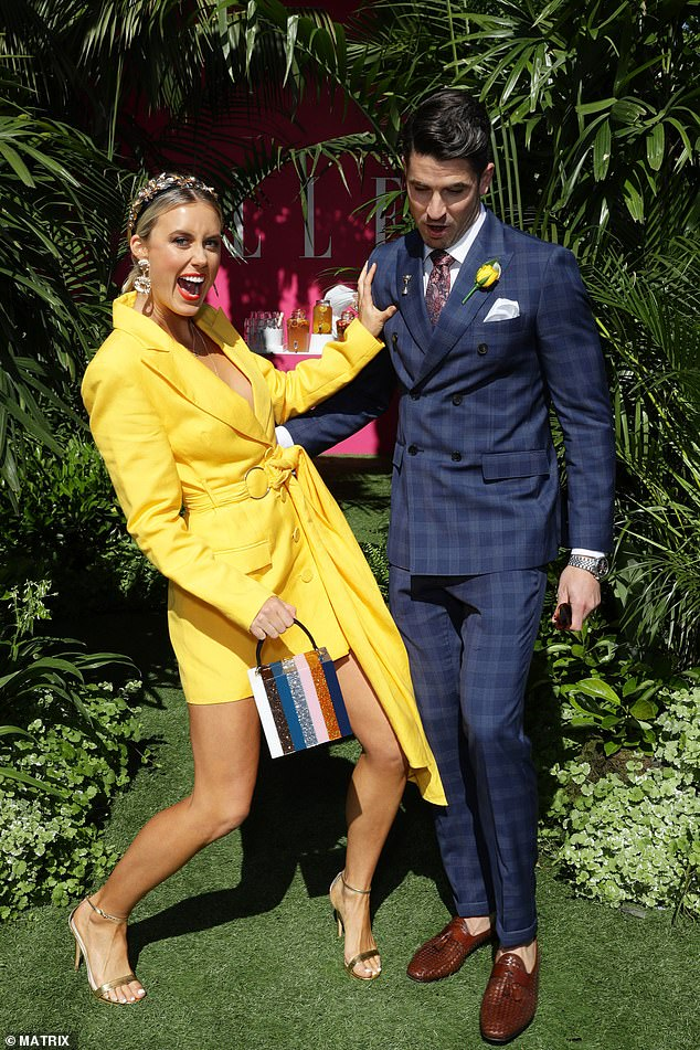 Oh you! At one stage, Liv was seen putting on a playful display with her The Loop co-host Scott Tweedie