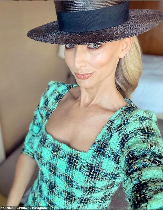 All work, no play? Anna is attending the Melbourne Cup as an emcee for Myer's Fashions on the Field