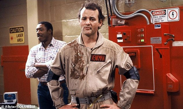Suited up: Bill, 69, will reprise his role ofDr. Peter Venkman Dan, 64, revealedon The Greg Hill Radio Show on Friday