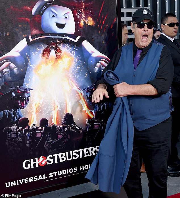 Ghosties and ghoulies:Dan talked up Ghostbusters 2020 at the press opening of Universal Studios maze last month