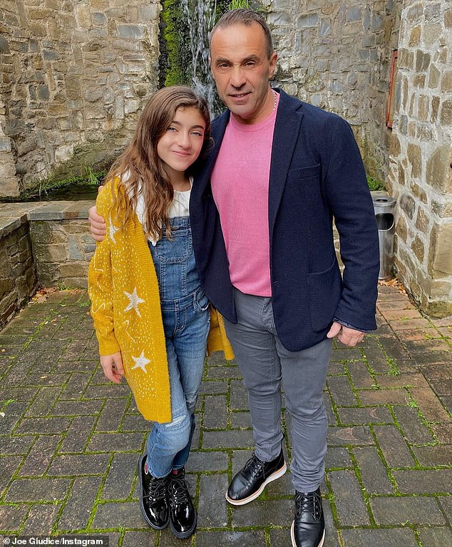 This was the first time in three years that Teresa has seen Joe since his since his imprisonment. He is seen with Audriana