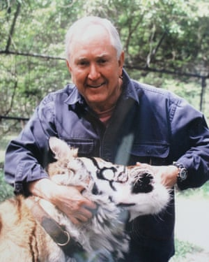Big pussycat: Bill Rathburn with Raja. 'He was the most loving animal from the day we got him to the day he died'.
