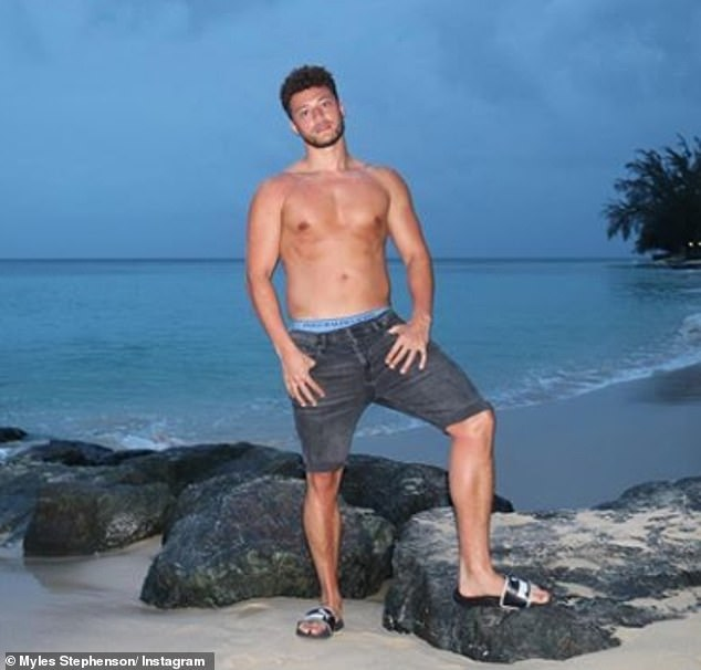One to watch:Gabby's ex-boyfriend Myles Stephenson is rumoured to be heading into the I'm A Celebrity jungle this month following their acrimonious split