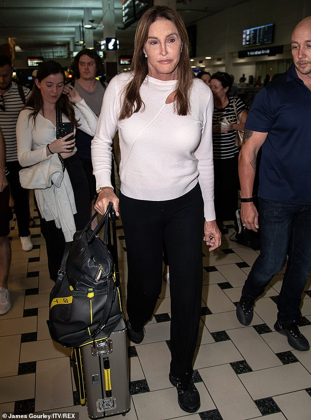 Here she comes:The news comes as rumoured contestant Caitlyn Jenner touched down in Brisbane over the weekend