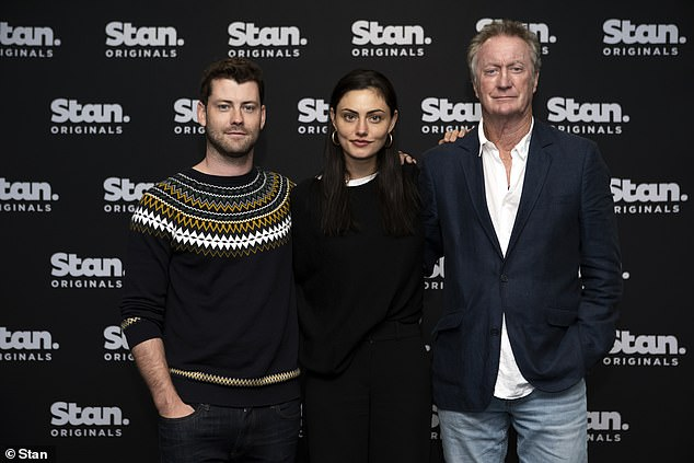 On the way: Season Two of Bloom is currently filming in various locations across Victoria and will premiere exclusively on Stan in 2020. Pictured:Jackson Heywood, Phoebe Tonkin and Bryan Brown