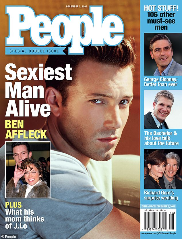 Hollywood star: Ben Affleck in 2002 graced the magazine's cover as Sexiest Man Alive