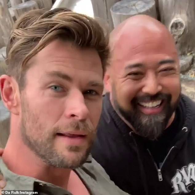 Close bond: Speaking to Daily Mail Australia on Tuesday, Da Rulk (real name Joey Sakoda) said the Hollywood heavyweight is 'like a brother to him'
