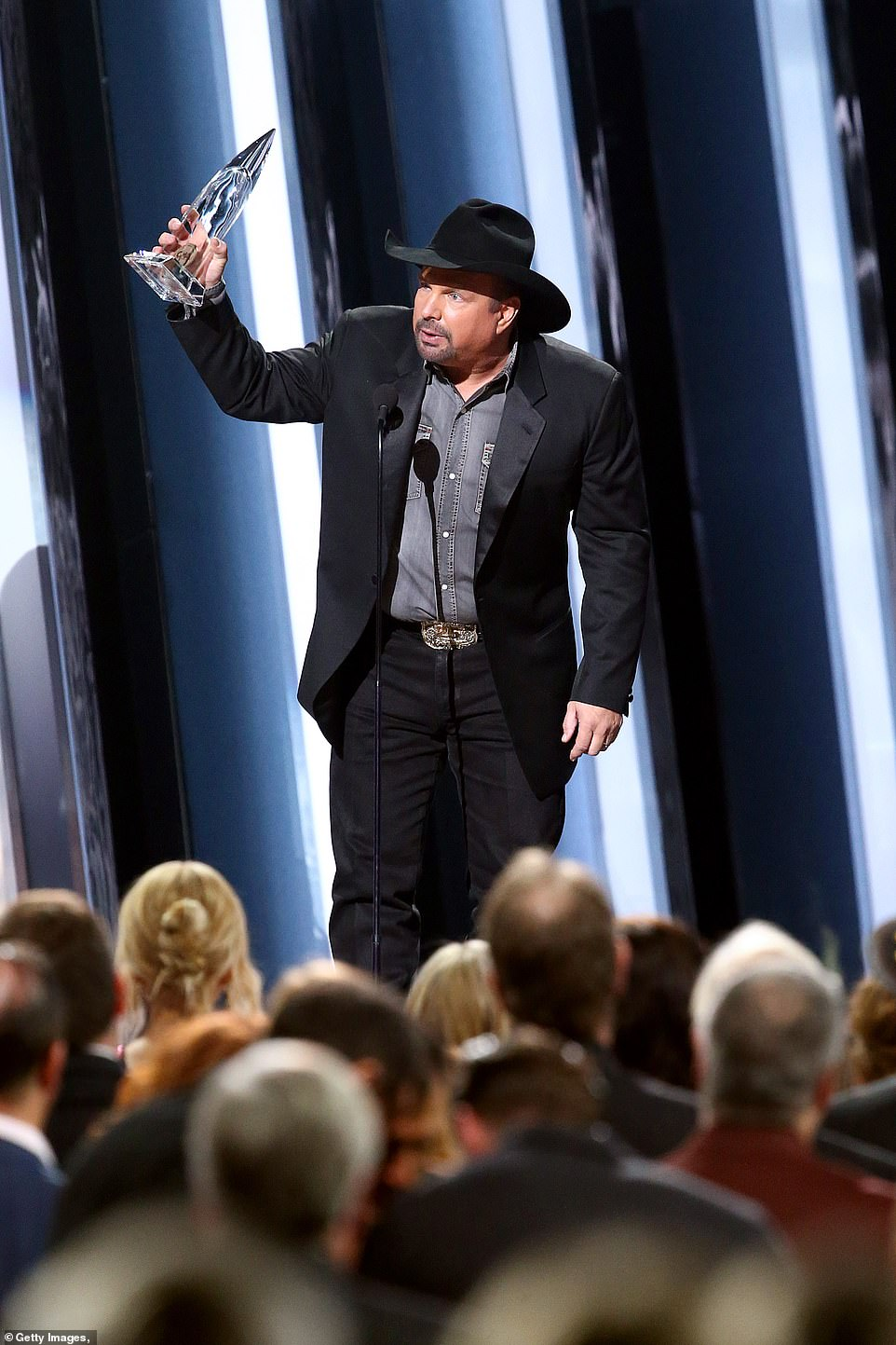 Entertainer of the Year:But it was country legend Garth Brooks, who launched a Stadium Tour and Dive Bar Tour in 2019, who won Entertainer of the Year despite having no new album