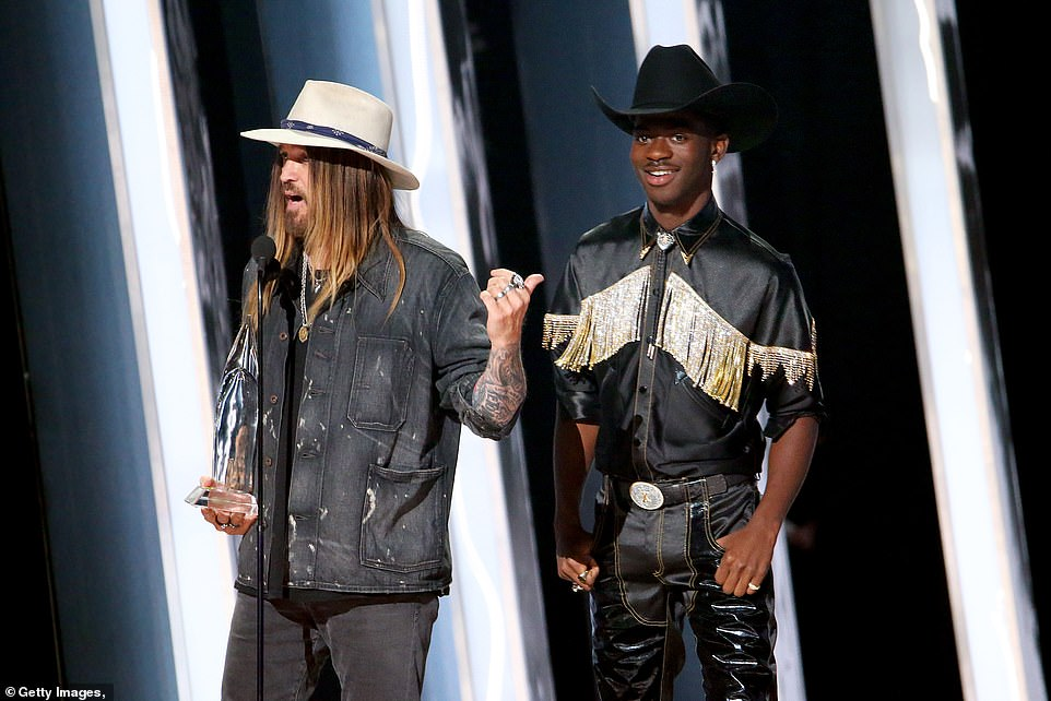 Winners:Underwood announced that Jenee Fleenor won Musician of the Year while Lil Nas X and Billy Ray Cyrus won Musical Event of the Year