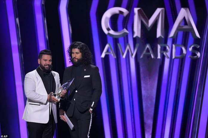 Vocal Duo: Dan + Shay won Vocal Duo of the year, beating out Brooks & Dunn, Brothers Osborne, Florida