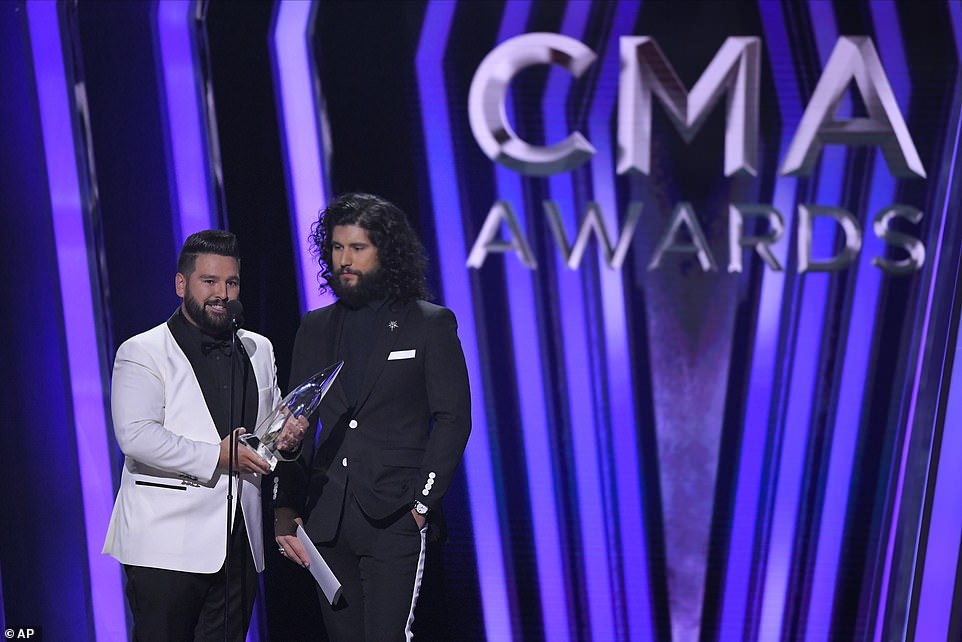 Vocal Duo:Dan + Shay won Vocal Duo of the year, beating out Brooks & Dunn, Brothers Osborne, Florida