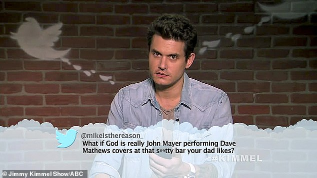God, is that you? Other celebrity victims included John Mayer (pictured), Luke Bryan, Perry Farrell, Leon Bridges, Monsta X, Alice Cooper, and Luke Combs
