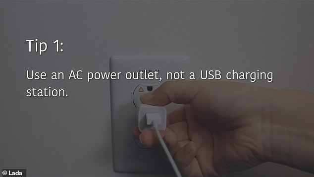 The LADA's office offers a few simple tips for staying safe, starting with using AC wall adapters instead of USB stations