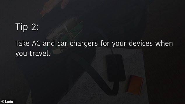 They recommend always carrying the AC adapter that comes with most phone and tablet charging cables