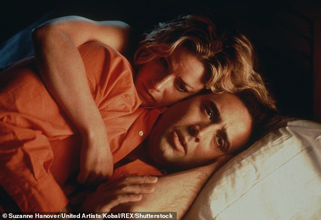 Back then: Cage starred in Leaving Las Vegas alongside Elizabeth Shue in 1995
