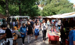 Part of the city's way of life … Berlin's Boxhagener Square flea market.