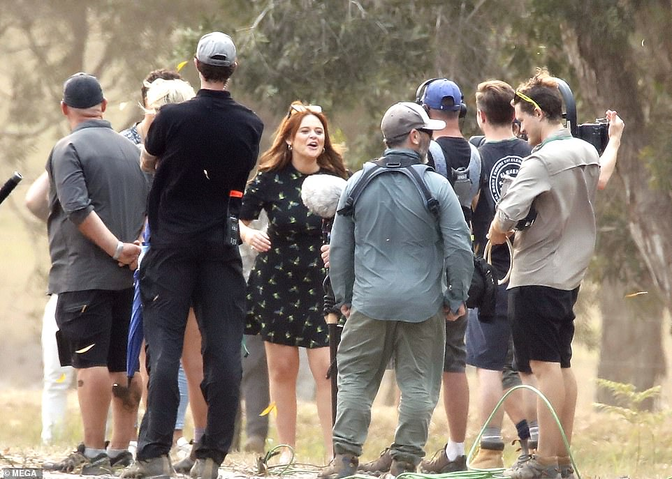 Joker: Elsewhere, Extra Camp presenter Emily Atack, who was crowned runner-up during last year's show, was seen larking around with members of the crew as they continued filming for the first episode