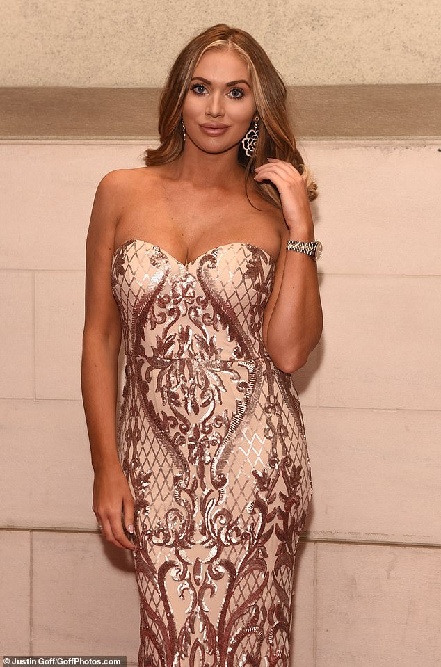 Looking good: Christine was in good company at the bash, with former TOWIE favourite Amy Childs, 29, also in attendance