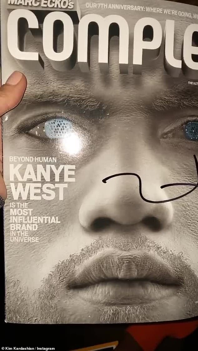 'Most influential brand':The magazine was a Complex issue from 10 years ago and had both Kim and Kanye as cover stars on separate sides