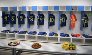 The Kosovo dressing room in Pristina