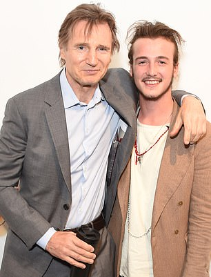 Micheal Richardson (right), 24-year-old son of Hollywood star Liam Neeson (left)