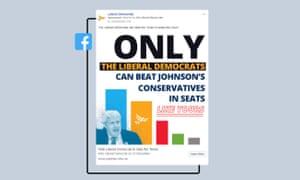 Liberal Democrat campaign ad on Facebook