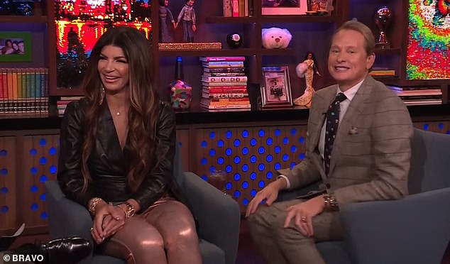Little excited: The RHONJ star also shared that she had enjoyed watching Andy kiss Million Dollar Listing star Fredrick Eklund, 42, on the BravoCon WWHL over the weekend
