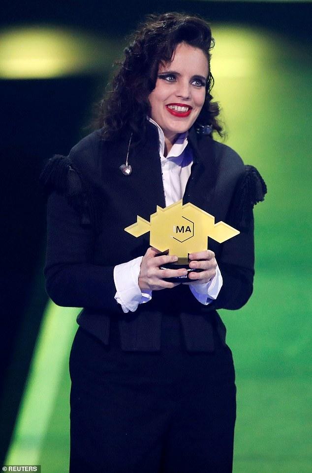 Thrilled: British singer Anna Calvi, 39, won an award in the sound category