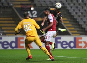 Wolverhampton Wanderers' Raul Jimenez heads the visitors back on level terms.