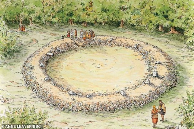 Archaeologist Jon Hoyle said nobody knows precisely what ring cairns were used for. An artists impression of the 2,000 BC the circular ritual ring