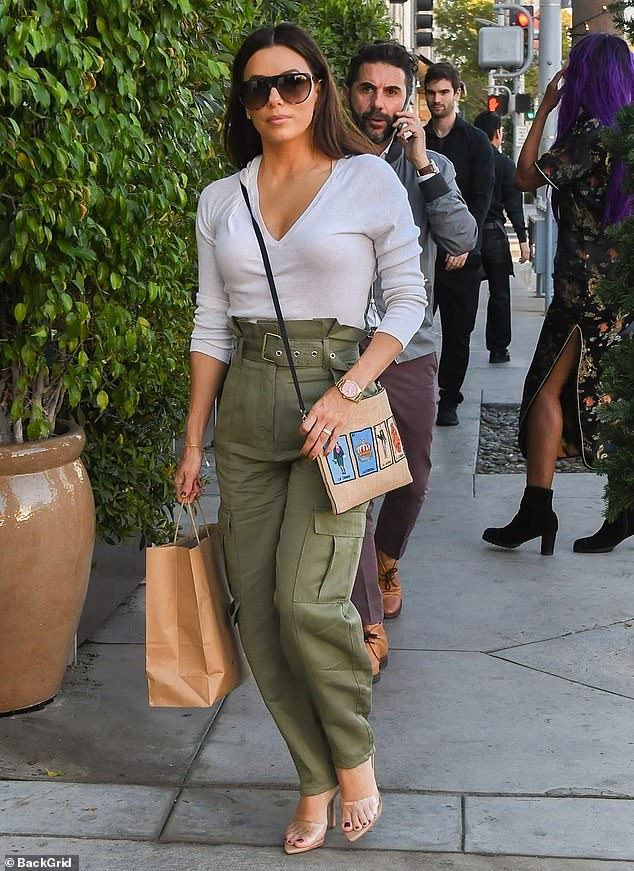 Isn't she lovely? Eva Longoria pulled out all the stops on Friday, when the 44-year-old actress went shopping in Beverly Hills in a head-turning ensemble