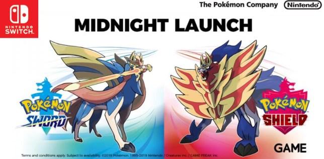 Pokemon Sword and Shield midnight launch