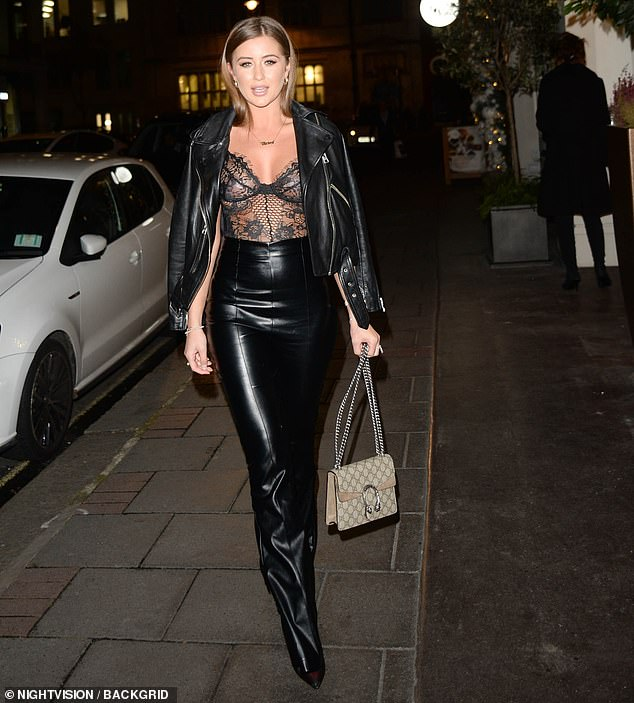 Georgia Steel, 21, put on a sizzling display as she attended the launch of Belvedere + Ice at Mayfair Bar in London on Monday night