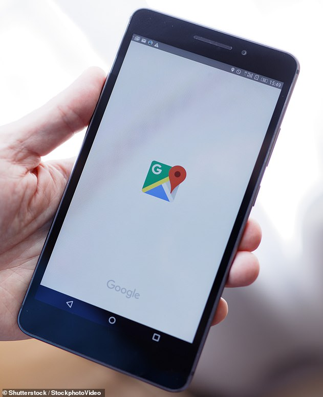 Google Maps is officially rolling out an Incognito mode for iOS users that allows them to browse places and get directions without having information tied to their google accounts (Stock image)