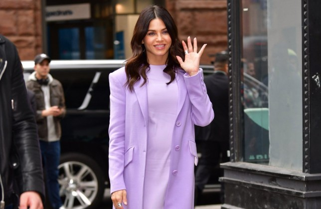 NEW YORK, NY - OCTOBER 22: Jenna Dewan is seen outside the Build Studio on October 22, 2019 in New York City. (Photo by James Devaney/GC Images)