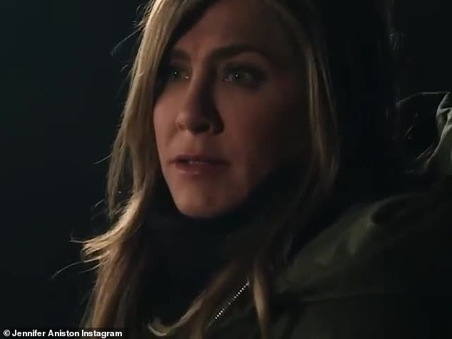 New look: Jennifer Aniston shared a clip from the next episode of her series The Morning Show to Instagram on Friday. The beauty hardened TV personality is seen telling Reese Witherspoon's anchor that she doesn't like her