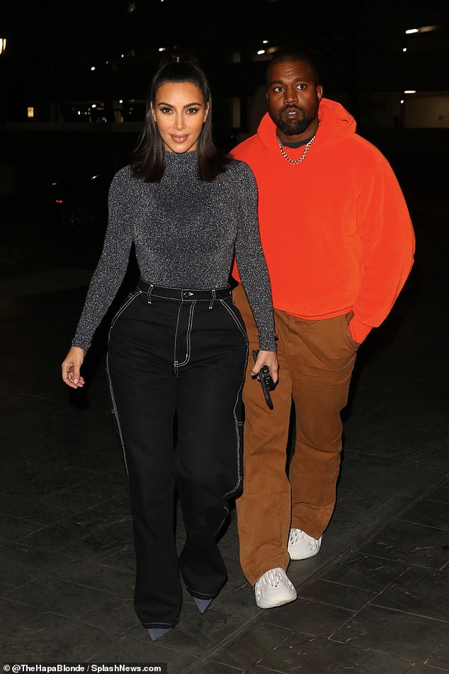 Calm before the storm:Kim Kardashian and Kanye West were spotted out on a date night on Saturday in Houston, Texas, ahead of Kanye's Sunday Service to a 45,000 person crowd