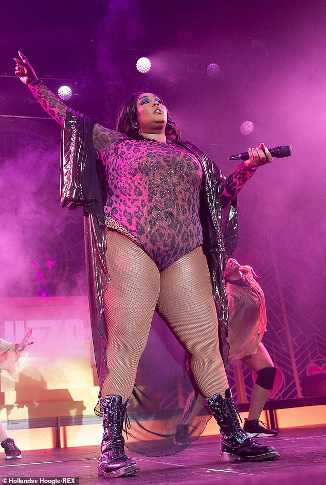 Frontrunner? An alleged 'leak' on the Grammys website has music fans claiming they know how many nominations artists will receive during next year's ceremony. Lizzo seen here this month